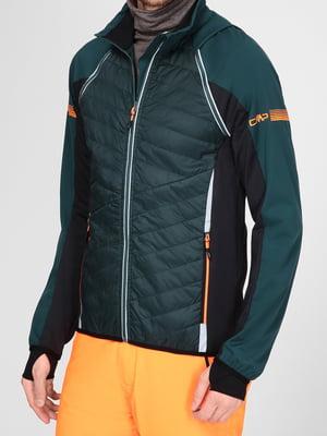 Куртка черно-изумрудного цвета | 5606552