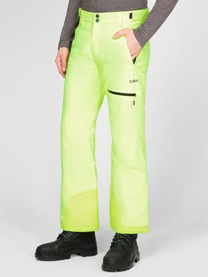Штани лижні салатового кольору | 5608061