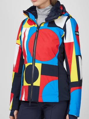 Куртка лыжная в принт | 5612890