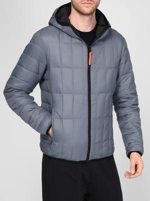 Куртка двусторонняя черно-серая   5612895