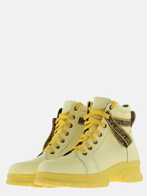 Ботинки желтые   5612589