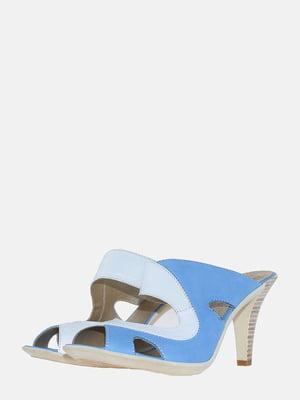 Сабо бело-голубые | 5613609