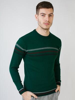 Джемпер зеленый в полоску | 5612871