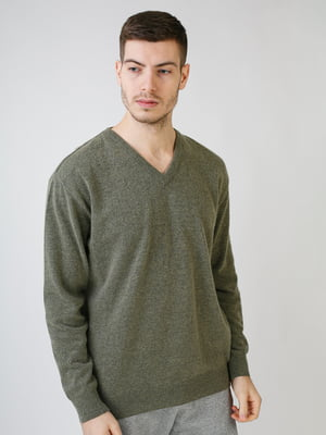 Пуловер оливкового цвета | 5612878