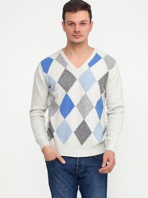 Пуловер в ромби | 5613794