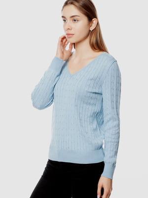 Пуловер голубой | 5613907