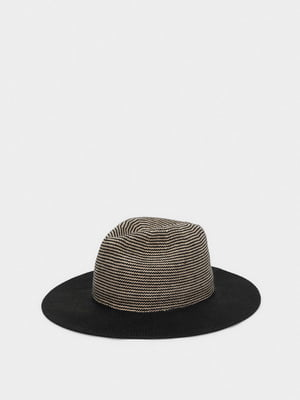 Шляпа черная в полоску | 5614422