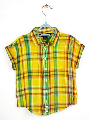 Рубашка желтая в клетку | 5609499