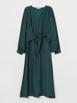 Платье темно-зеленое | 5615047
