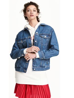 Джинсова куртка синя | 5615048