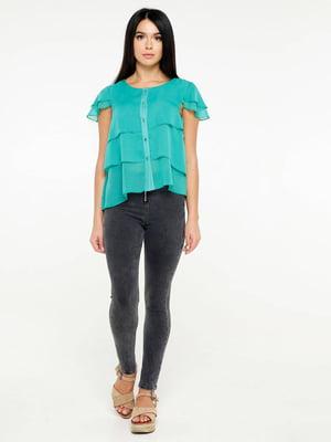 Блуза бирюзового цвета | 5617125