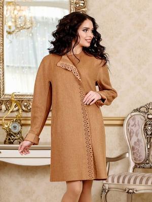 Пальто коричневое | 5617356