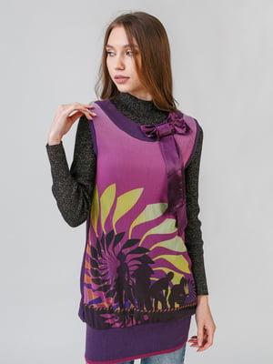 Туніка фіолетова з принтом | 5615200