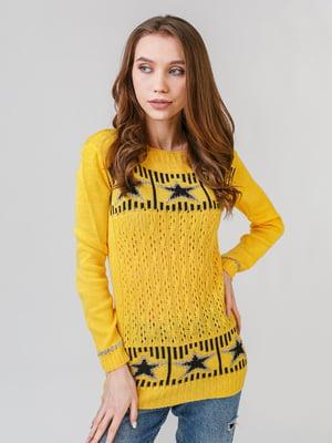 Джемпер желтый с рисунком | 5615275