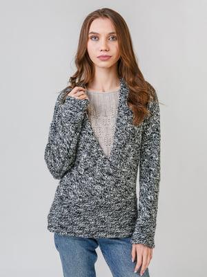Пуловер чорно-білий | 5615315