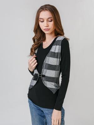 Джемпер черно-серый | 5615199