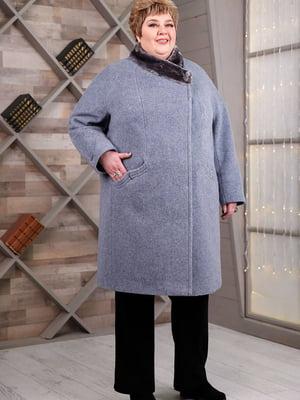 Пальто серо-голубое   5617735