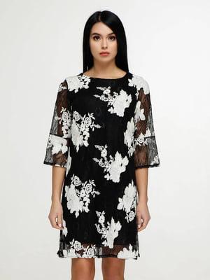 Сукня чорна у квітковий принт   5617808