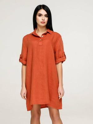 Платье терракотового цвета   5617815