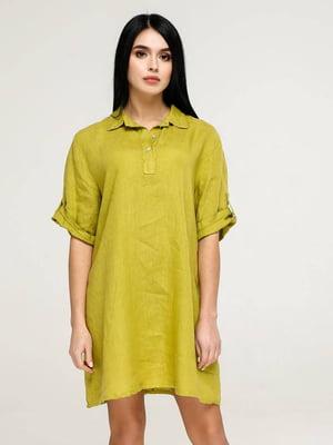 Сукня гірчичного кольору   5617816