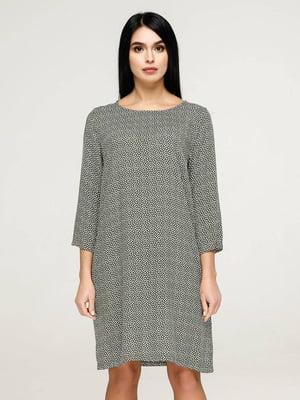 Сукня сіра у візерунок   5617823