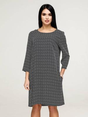 Сукня чорна у візерунок   5617824