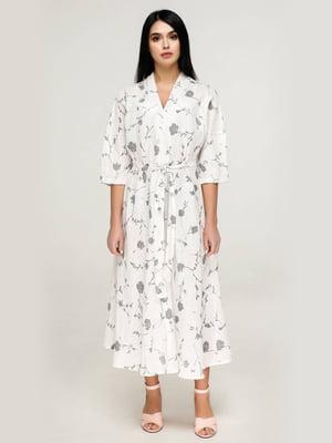 Сукня біла у принт   5617831