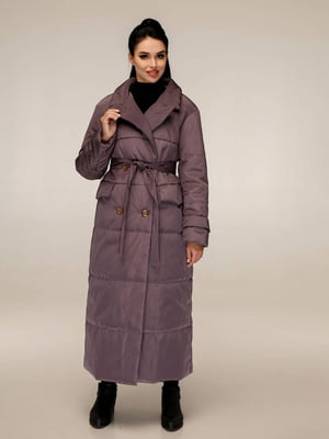 Пуховик темно-фиолетовый   5618172