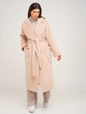 Пальто бежевого кольору | 5610372