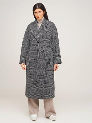 Пальто серое в «гусиную лапку»   5199007