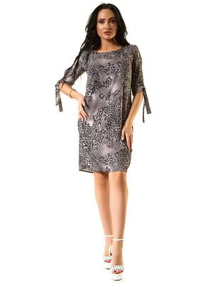 Сукня сіра з принтом | 5360340
