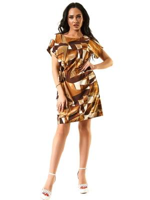 Платье коричневое | 5360348