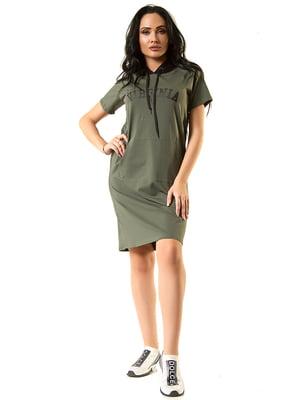 Платье цвета хаки | 5360381