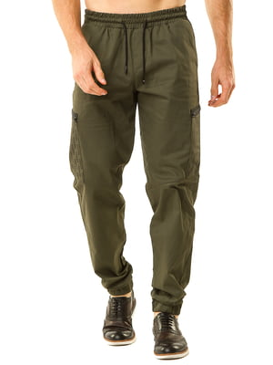 Штани спортивні зелені | 5618702