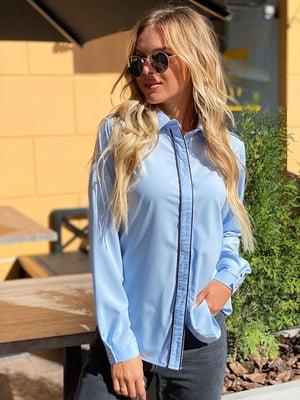 Рубашка голубая | 5618727