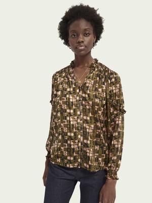 Рубашка разноцветная в принт | 5618322