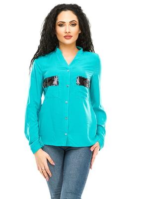 Рубашка цвета морской волны | 4920214