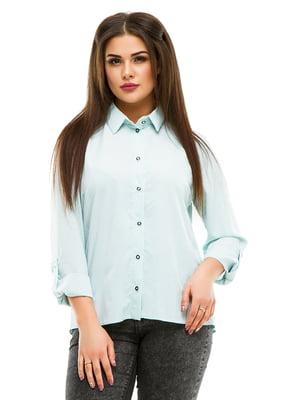 Рубашка мятного цвета в горошек | 4973526