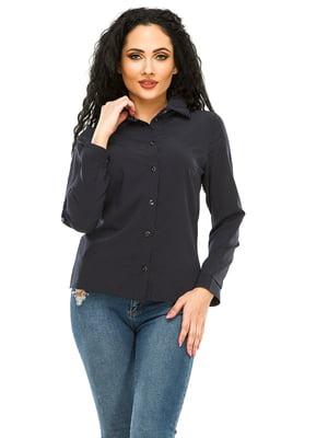 Рубашка темно-синяя в горошек | 4973527