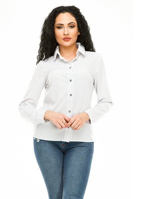 Рубашка белая в горошек | 4973529