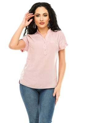Рубашка цвета пудры | 4979879