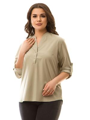 Блуза оливкового кольору | 5381958