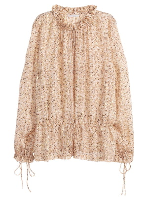 Блуза золотистого цвета в принт | 5619754