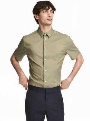 Сорочка кольору хакі | 5619785