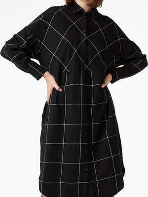 Сукня-сорочка чорна в клітинку | 5619918