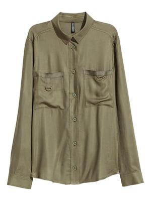 Рубашка цвета хаки | 5620035