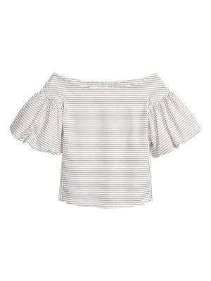 Блуза белая в полоску | 5620079