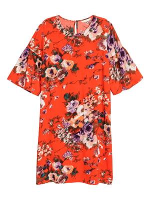 Платье красное в принт | 5620080