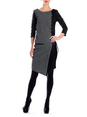 Сукня чорна в смужку | 5619396