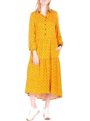 Сукня жовта в ромб | 5619431